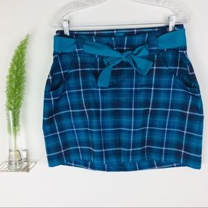 Nike Golf Blue Plaid Bow Gorgeous Skirt Size (M)